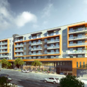The multi-family residential and mixe-use project on West 7th in Koreatown, designed by architects AXIS/GFA