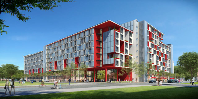 UCSF at Mission Student Housing architectural project