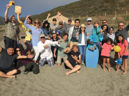 San Francisco architects AXIS/GFA Architecture + Design celebrate summer with some team building at their 2017 Summer Beach Picnic.