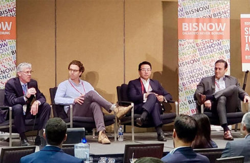 "Cory Creath, AXIS/GFA Architecture + Design Founding Principal Architect, leads Bisnow's inaugural BLIS West ""State of the Lodging Industry"" panel."