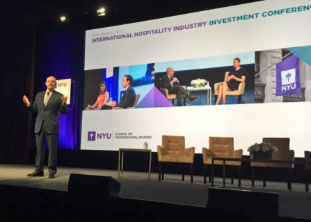 Opening of the 2016 NYU International Hospitality Industry Investment Conference, attended by San Francisco based hotel architectural firm AXIS Architecture + Design