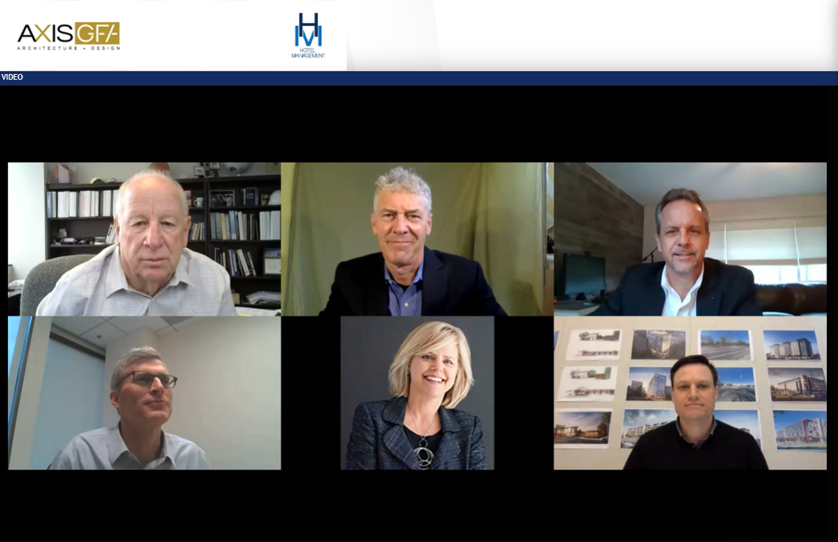 "Hotel design experts participate in AXIS/GFA's virtual panel, ""Unmasking Hotel Viability."""